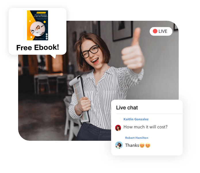 Live Streaming Commerce for Banking, Financial Services & Insurance Industry